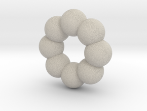 Cute candy DONUT in Natural Sandstone