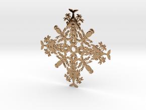 Hawaii Snowflake in Polished Brass