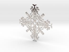 Hawaii Snowflake in Platinum