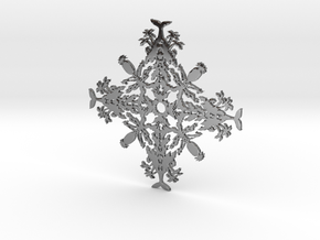 Hawaii Snowflake in Fine Detail Polished Silver