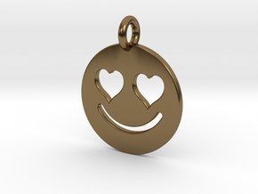 Smilie Love in Polished Bronze