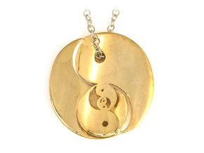 Yin Yang Fractal Pendant in 18k Gold Plated