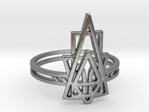Viridiana Ring in Natural Silver: 7 / 54