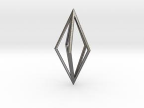 Diamond Pendant mk1 in Polished Nickel Steel