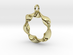 In a Twist in 18k Gold Plated Brass