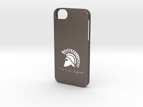 iPhone 5/5s Case Molon Lave in Polished Bronzed Silver Steel