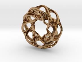 Circular Pendant in Polished Brass