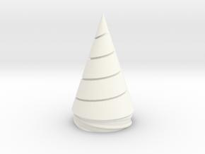 Gurren Lagann - Core Drill - Replaceable Drill Tip in White Processed Versatile Plastic