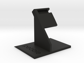 Pebble Time Dock - Simplistic in Black Strong & Flexible