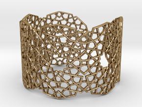 J&M Islamic Inspired Geometric Bracelet in Polished Gold Steel
