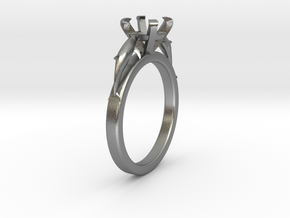 Delphin Ring Ø8.35 Mm For Ø6.5 Mm Diamond in Raw Silver