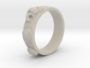 Sea Shell Ring 1 - US-Size 4 (14.86 mm) in Natural Sandstone
