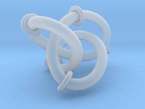 Figure8Knot And Sliding Tori 7 12 2015 in Smooth Fine Detail Plastic