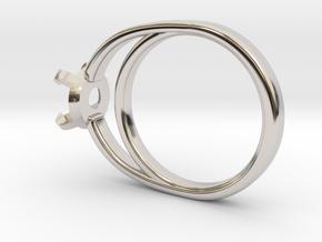 Ø14.86 Mm Diamond Ring Ø5.9 Mm Fit in Rhodium Plated Brass