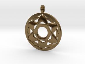 ALYSSA'S CHARM in Polished Bronze