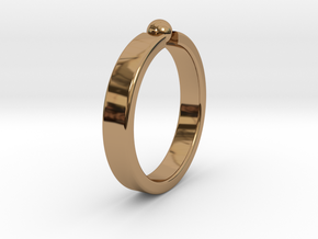 Ø19.22mm - 0.757 inches Ring in Polished Brass