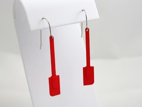 Spatula Earrings in Red Processed Versatile Plastic
