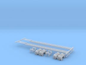N 53' Container Chassis 2 Pack in Frosted Ultra Detail