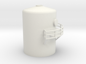 'N Scale' - Distillation Tower - Top Section in White Natural Versatile Plastic