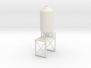 'N Scale' - 12' Dia. Loadout Bin for Truck in White Natural Versatile Plastic