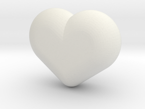 Cute candy HEART in White Strong & Flexible