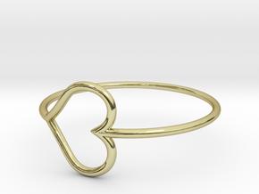 Size 9 Love Heart in 18k Gold
