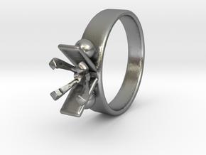 Ø16 mm Diamond Ring Ø5.9 Mm Fit in Natural Silver