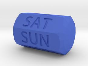 D7 Day of Week Die in Blue Processed Versatile Plastic