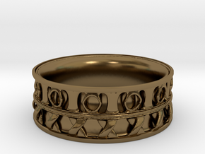 King Ring 1 in Polished Bronze