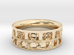 King Ring 1 in 14K Yellow Gold