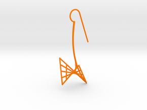swan (medium) in Orange Processed Versatile Plastic