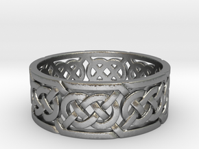 Celtic Double Knot Ring in Natural Silver