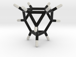 0290 Truncated Tetrahedron Molecule (C12H12) in Full Color Sandstone