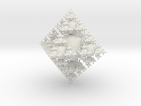 3D Fractal out of Spheres in White Natural Versatile Plastic