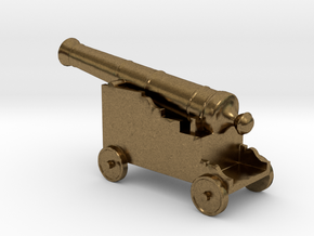 Miniature 1:48 Pirate Cannon in Natural Bronze