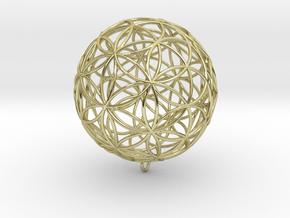 Pendant 45mm Flower Of Life  in 18k Gold Plated Brass