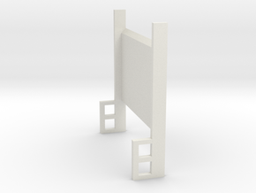 Lift Gate Up Position 1-87 HO Scale in White Natural Versatile Plastic