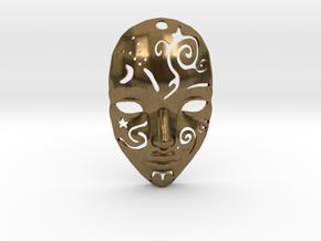 Festival Mask Pendant in Natural Bronze