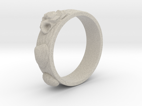 Sea Shell Ring 1 - US-Size 5 (15.7 mm) in Natural Sandstone