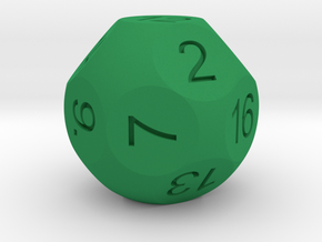 D16 Sphere Dice in Green Strong & Flexible Polished