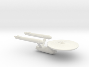 USS Enterprise Miniature 1:5000 in White Natural Versatile Plastic