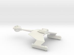 Klingon Battle Cruiser 1to5000 in White Natural Versatile Plastic