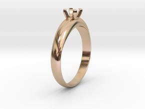 Ø19.70 Mm Diamond Ring Ø4.5 Mm Fit in 14k Rose Gold Plated Brass