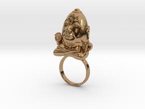HUMPTY BUDA RING in Polished Brass