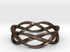 Weave Ring (Large) in Polished Bronze Steel