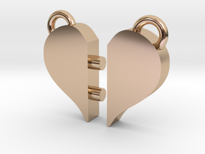 Heart Pendants in 14k Rose Gold Plated Brass