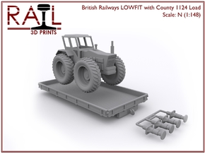 N Scale LOWFIT With County 1124 in Frosted Ultra Detail