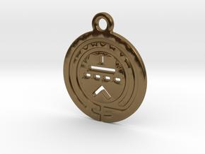 TriodeGirl Logo Key Fob 1 in Polished Bronze