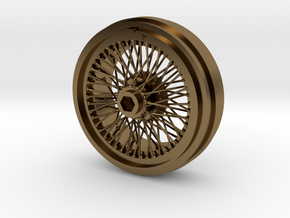 1/8 Wire Wheel Front, with 72 spokes in Polished Bronze