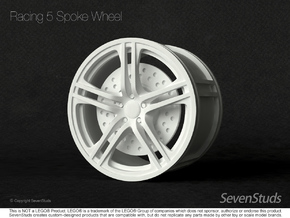 Racing Wheel 01_56mm in White Natural Versatile Plastic